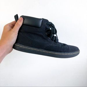 Dr. Marten Maelly black canvas 6 eye boot size 7